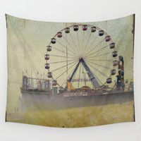 new jersey Wall Tapestries featuring Seaside Heights New Jersey  by Michelle Anderson