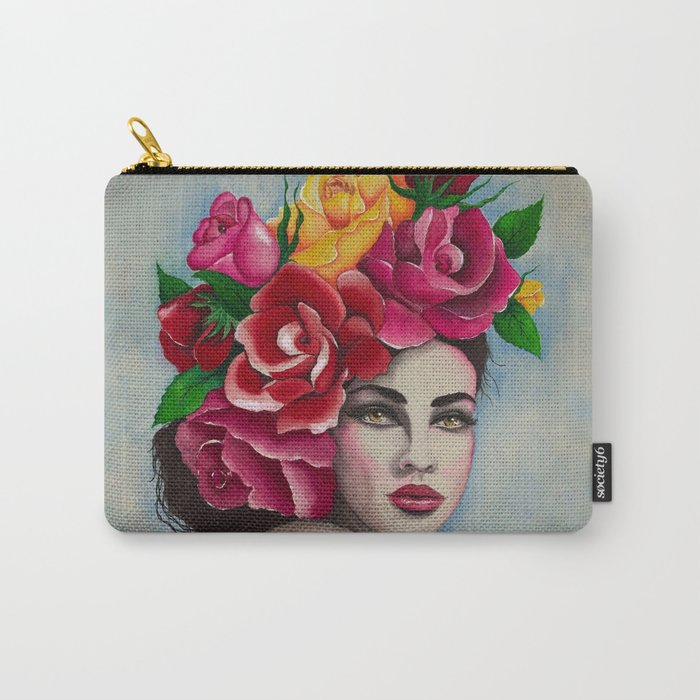 Flower Power Roses by Andrea Carry-All Pouch