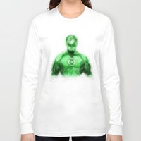green lantern Long Sleeve T-shirts featuring Green Lantern by KitschyPopShop