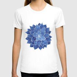 Indigo Succulent |  Watercolor Painting T-shirt