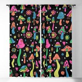 Rainbow Mushrooms Blackout Curtain