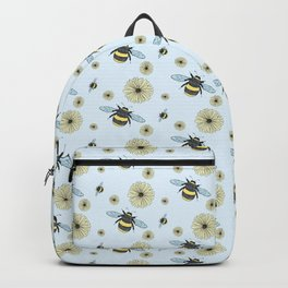 Bumble Bees and Flowers Backpack