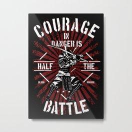 Courage in Battle, Samurai Rule Metal Print