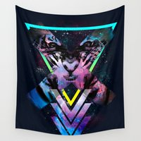 code Wall Tapestries featuring CODE X by alfboc