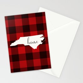North Carolina is Home - Buffalo Check Plaid Stationery Cards