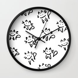Meows Wall Clock