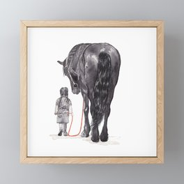 Come with me Framed Mini Art Print