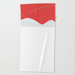 Esthetic Red Beach Towel