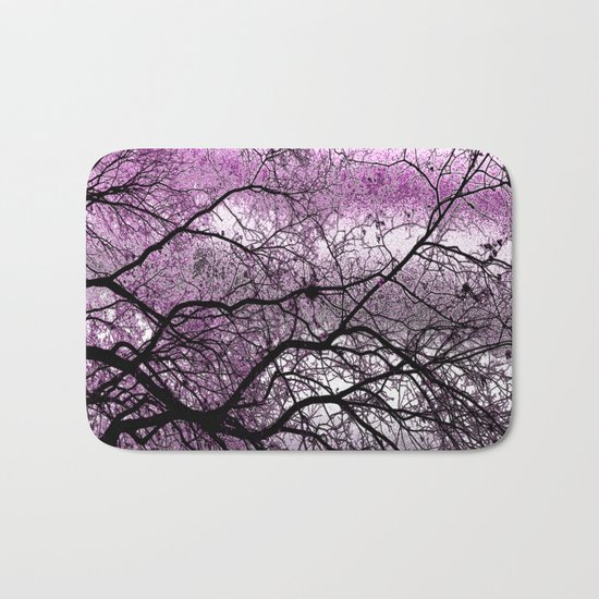 Twisted but Strong (violet orchid) Bath Mat