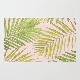 Palms Against Blush Rug