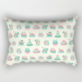Choco Mint Rabbit Rectangular Pillow