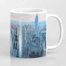 New York City - Manhattan Skyline in Warm Sunlight Coffee Mug