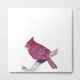 Angled Robin | @makemeunison Hand Drawn Art Metal Print