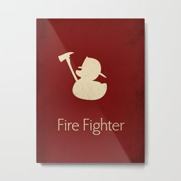 Fire Fighter Metal Print