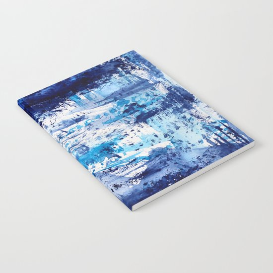 Blue passion || watercolor Notebook
