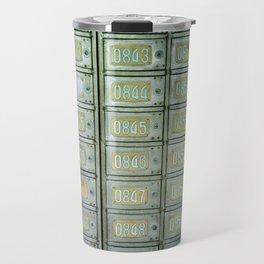 PO boxes Travel Mug