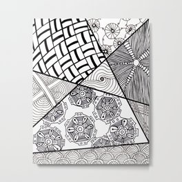 Funky Abstract Zendoodle Metal Print