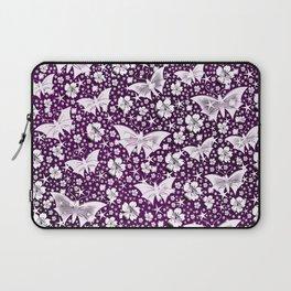 purple,siilver,flowers, stars, butterfly, pattern, bright, shiny, elegant, color Laptop Sleeve