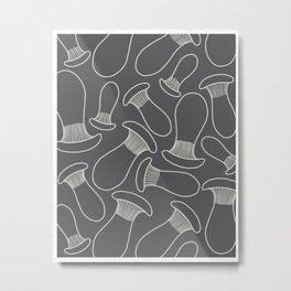 king oyster mushrooms Metal Print