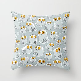 Snowy Owls. Throw Pillow