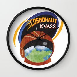 Cosmonaut Kvass Wall Clock