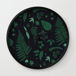 Nocturne Botanical Wall Clock