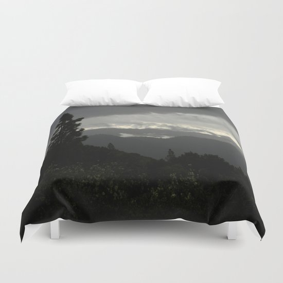 Another stormy day on the mountain... Duvet Cover