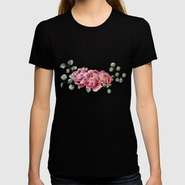 Watercolor Peonies Sprig T-shirt