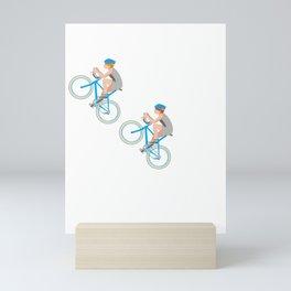 Ohhhhh Oh Shift Crap Darn Snap Yikes Cycling Bike T Shirt Mini Art Print