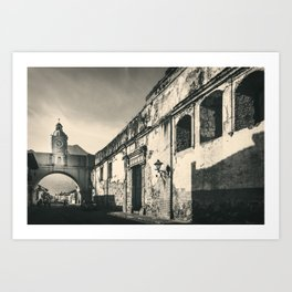 Antique buildings in Antigua, Guatemala Art Print