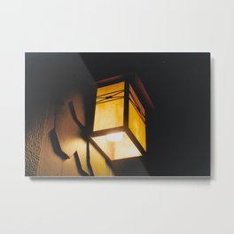 Light Rids Darkness-Film Camera Metal Print