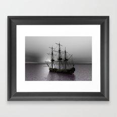 Sailing Along the Cold Sun Framed Art Print
