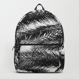Palm Trees in Noir Entwining in a Tropical Breeze Backpack