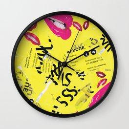 POP ART COLLAGE Wall Clock