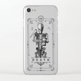 Death XIII Tarot Card Clear iPhone Case
