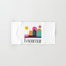 Vancouver Coal Harbour Hand & Bath Towel