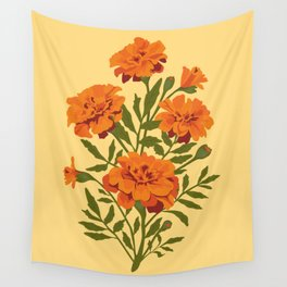 Marigold Flowers Wall Tapestry