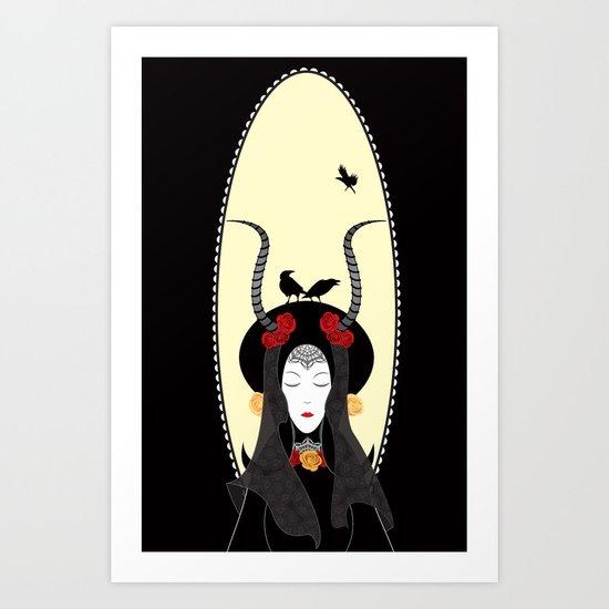 Dream of a Raven Art Print