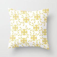 Golden Marguerite Throw Pillow