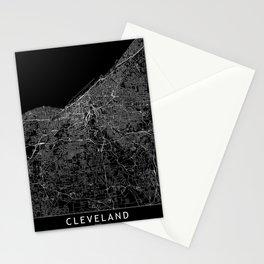 Cleveland Black Map Stationery Cards