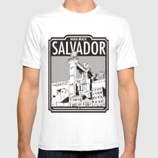 Salvador - Bahia - Brazil White Mens Fitted Tee SMALL