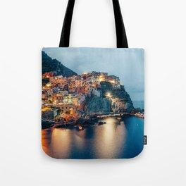 Manarola village at Night Tote Bag