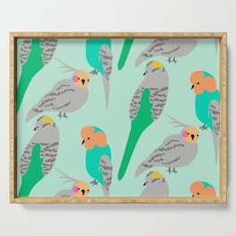 The Birds (green + orange) Serving Tray