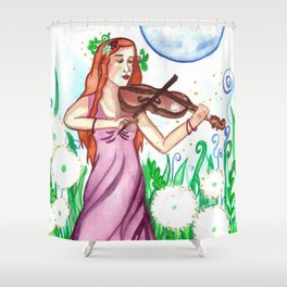 Fiddler and the Moon Shower Curtain