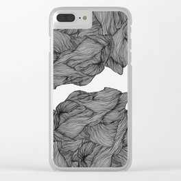 Line ridge Clear iPhone Case