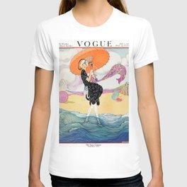 Vintage Magazine Cover - Windy Beach T-shirt