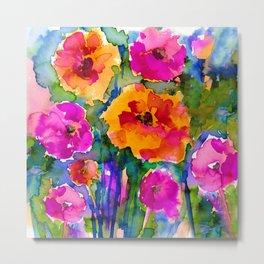 Floral Enchantment No. 17 by Kathy Morton Stanion Metal Print