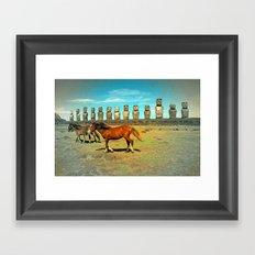 EASTER ISLAND SCENE Framed Art Print