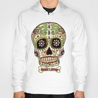 mexican Hoodies featuring Mexican Skull !!! by Adrian Filmore