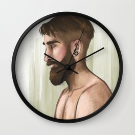 Bearded guy Wall Clock